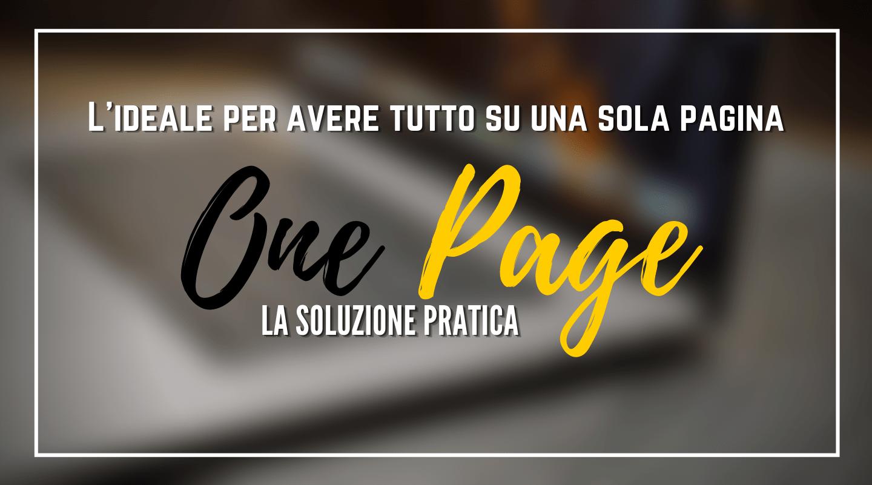 Crea il tuo sito one page